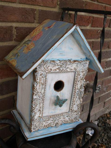 shabby chic birdhouse blue shabby chic bird house houses for ramona pinterest