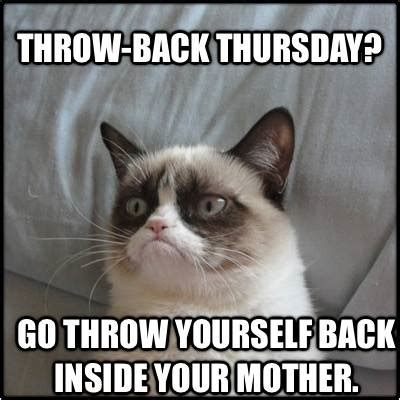 Funny Thursday Memes - grumpy cat throwback thursday funny memes