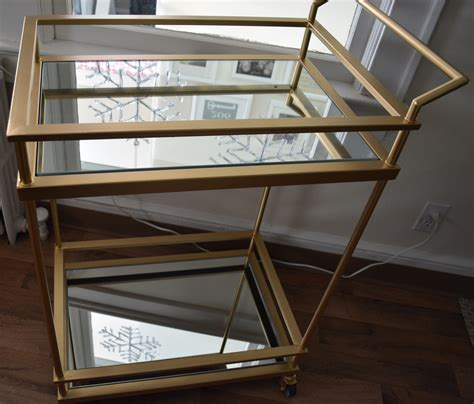 gold mirrored target bar cart hack madestyle