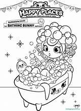 Shopkins Coloring Shoppies Pages Shopkin Happy Places Bath Bubbleisha Printable Sheets Colouring Shoppie Printables Bathing Bunny Doll Para Colorear Place sketch template