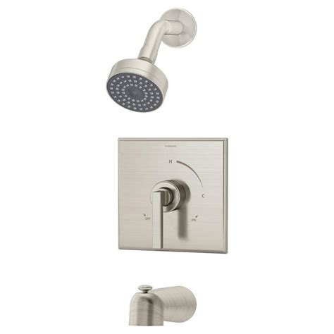 Symmons Faucets Home Depot by Symmons Duro 1 Handle Tub And Shower Faucet Trim In Satin