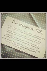17 best images about wedding on pinterest receptions With wedding invitation wording honeymoon contribution