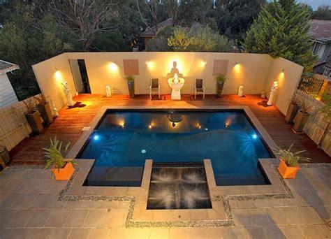 in ground pool deck lighting pool design ideas