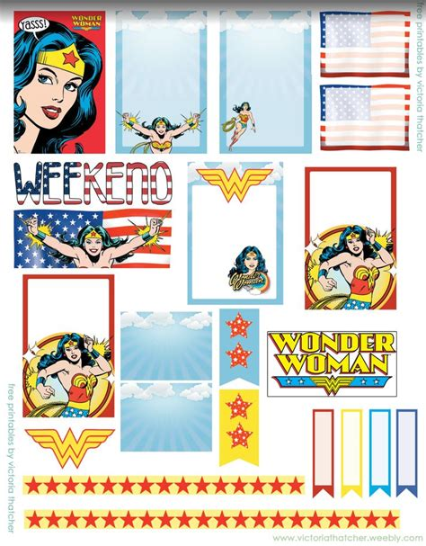174 Best Images About Wonder Woman Printables On Pinterest
