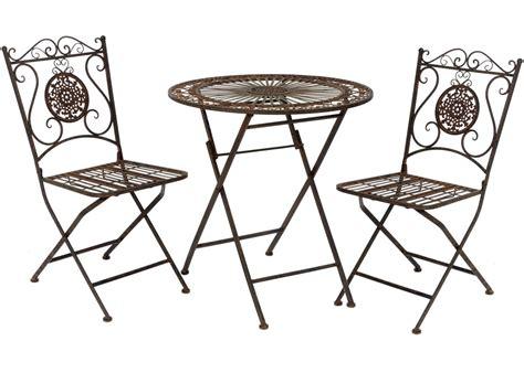 Tisch Und Stuhl by Nostalgie Landhaus Sitzgarnitur Metall 1 Tisch 2 St 252 Hle