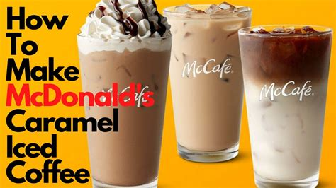 I had gotten their iced frappes once and they were okay, i got their iced coffee yesterday and it was just. How to Make McDonald's Caramel Iced Coffee   Complete Guide