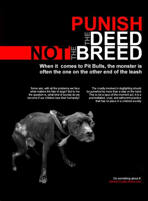 psa flyer psa flyer punish  deed   breed