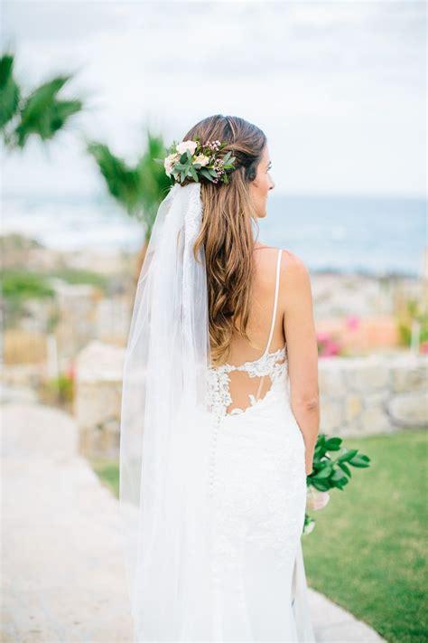 Bridal Hair Floral Hair Comb With Veil Half Flower Crown
