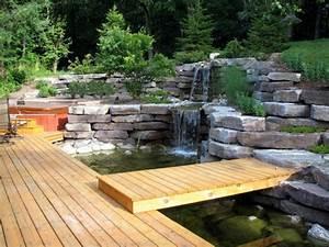 Gartengestaltung Mit Teich : teich mit wasserfall 31 tolle bilder ~ Markanthonyermac.com Haus und Dekorationen