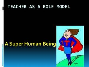 Teacher as a role model