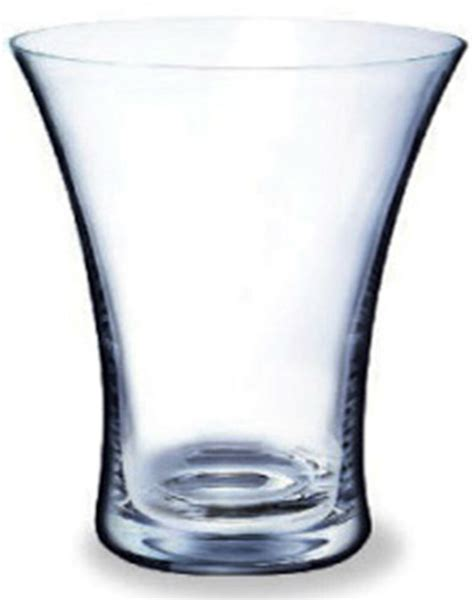 Wide Glass Vases by Rona 19cm Inspiration Wide Glass Flower Vase Display
