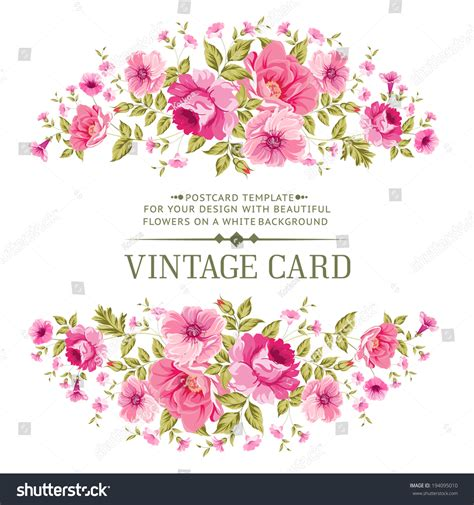 luxurious vintage card color rose vector stock vector