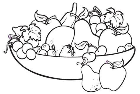 mewarnai gambar buah di keranjang