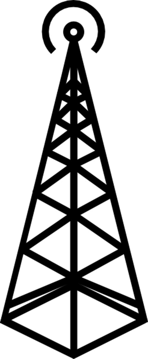 antenna tower clip art  clkercom vector clip art