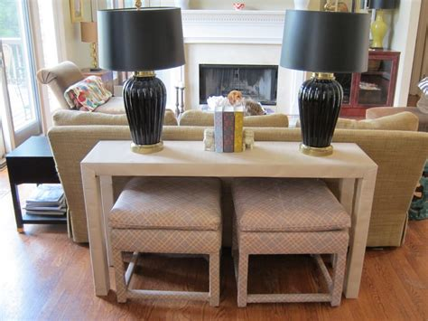 narrow table behind couch long narrow table behind couch charm decorate table