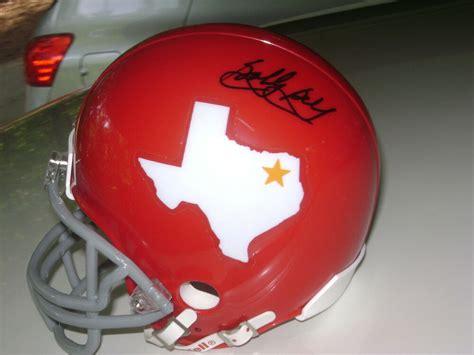 bobby bell dallas texans signed throwback helmet kansas