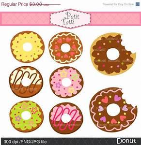 ON SALE Donut clip art cute donut kawaii Digital clip art