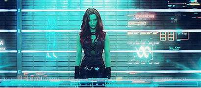 Guardians Galaxy Gamora Gifs Saldana Zoe Trailer