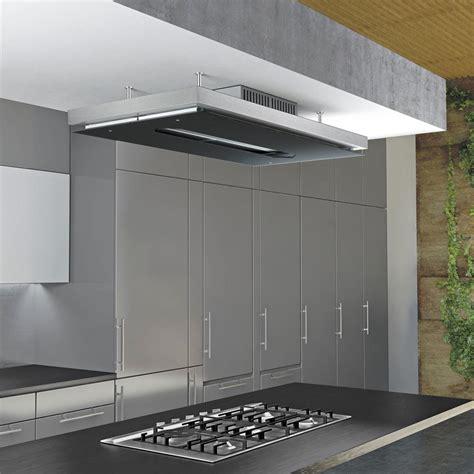 hotte cuisine ilot airforce gemma verre hotte plafond pour la cuisine