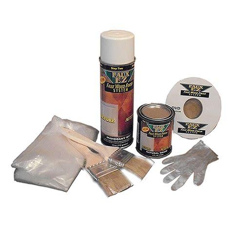faux ez natural wood grain cabinet paint kit 12 oz