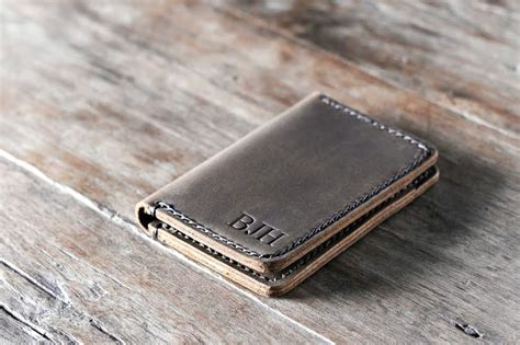 Leather Card Holder Handmade credit card holder wallet handmade personalized free