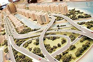 A107-00058: Model of a proposed new building development ...