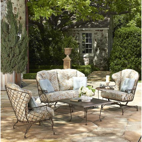 furniture for patio woodard brayden wrought iron sofa