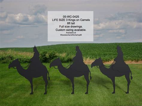 kings  camels life size silhouettes yard art
