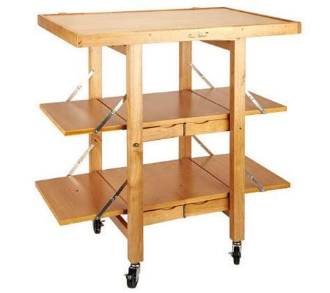 folding kitchen island folding island kitchen cart with extendable shelves page 1040
