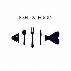 Fish,spoon,fork and knife icon.Fish & food logo design ...