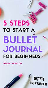 How To Start A Bullet Journal  A Step