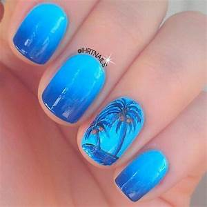 50+ Palm Tree Nail Art Ideas That You Will Love ...
