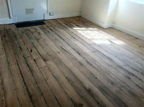 original wood flooring original pitch pine floorboards sanded and sealed by wood floor renovations in north wales