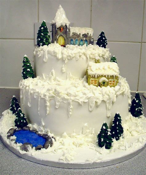 beautiful christmas cake decoration ideas  design