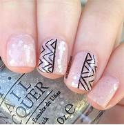 Gallery For > Zebra Nail Designs For Short Nails To Do At Home