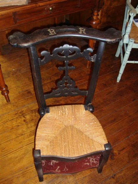 prayer chair with 2 seats circa 1860 for sale