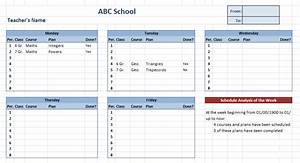 teacher schedule template schedule template free With timetable templates for teachers
