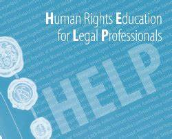 Human rights capacity development for legal professionals for Legal document assistant courses