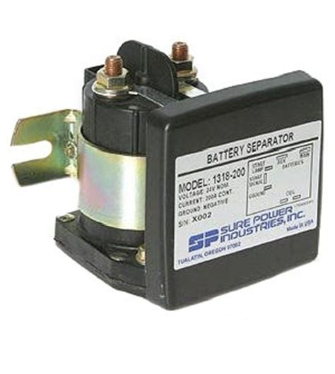 sure power 1318 200 battery separator 24 volt