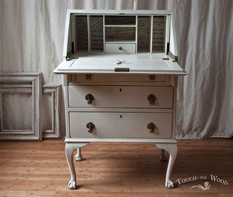 the bureau vintage shabby chic bureau with print no 22 touch the wood