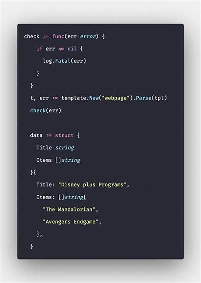 Golang Template Package Example