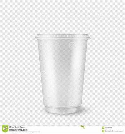Cup Plastic Template Clear Disposable Empty Realistic