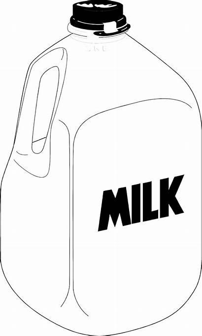 Milk Gallon Jug Plastic Clipart Clip Illustration