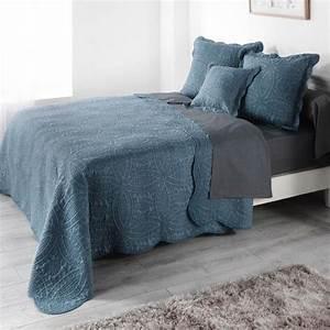 Couvre Lit Bleu Canard : couvre lit boutis linge de lit 2 eminza ~ Teatrodelosmanantiales.com Idées de Décoration