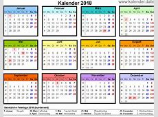 Kalender 2018 Printable 2018 calendar Free Download USA