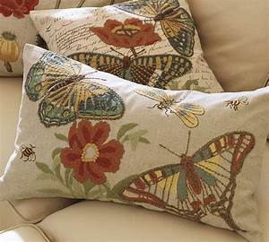Insect Embroidered Pillows From Pottery Barn Ikea Decora