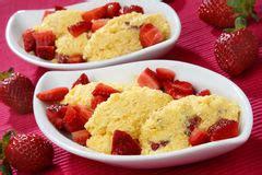 dessert avec les fraises fra 238 ches image libre de droits image 31933866