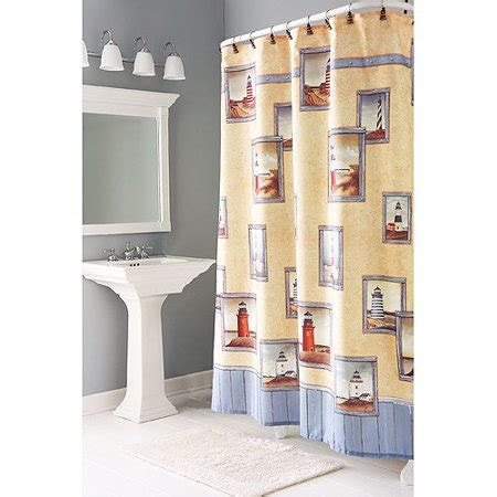 lighthouse shower curtain painterly lighthouse shower curtains walmart