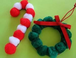Christmas Pom Pom Ornaments Craft