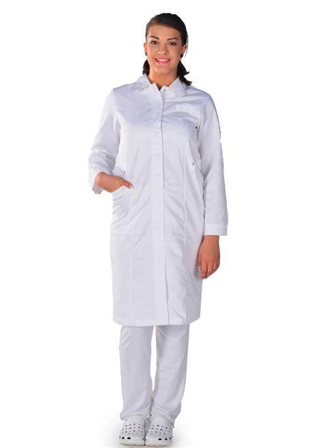 blouse m 233 dicale blanche manches longues metiers de sante